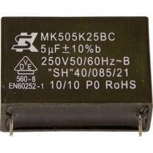 Seika MK450K104 1 pz. Condensatore MKP radiale 0.1 µF 450 V 10 % 15 mm (Ø x A) 13.5 mm x 7.5 mm