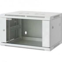 Intellinet 711722 Armadio rack da parete 19 (L x A x P) 570 x 370 x 450 mm 6 U Grigio (RAL 7035)