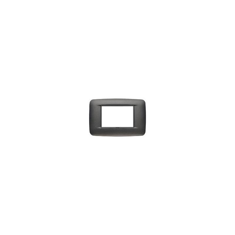 Placca Round Eikon - Antracite Matt - 3 Posti