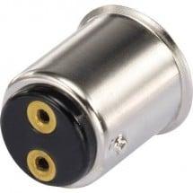 TRU COMPONENTS Porta lampada Attacco: BA15d Connessione: Occhiello a saldare 1 pz.