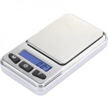 Basetech SJS-60008 Bilancia tascabile Portata max. 200 g Risoluzione 0.01 g a batteria Argento