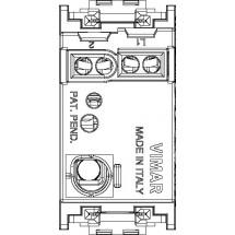 Interruttore Unipolare 16 AX 250 V~, luminoso, per unità di segnalazione, grigio. Fornito senza unità di segnalazione