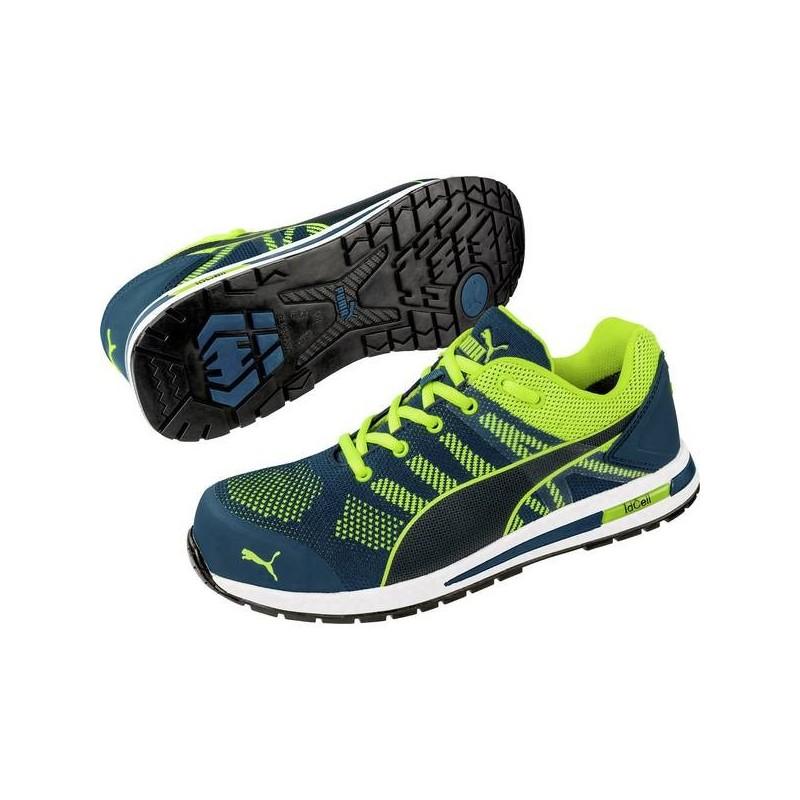 Scarpe di sicurezza S1P Misura: 47 Verde, Giallo PUMA Safety Elevate Knit Green Low 643170 47 1 Paia