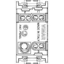 Deviatore 1P luminoso grigio