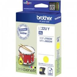 Cartuccia Brother Originale LC-22U Y Giallo LC22UY