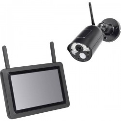 PENTATECH DW500 27910 senza fili-KIT videosorveglianza senza fili 4 canali con 1 camera 1920 x 1080 Pixel 2.4 GHz