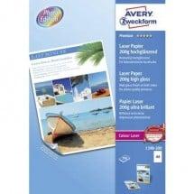 Carta per stampante laser Avery-Zweckform Premium Laser Paper 200g high gloss 1398-200 DIN A4 200 Foglio Bianco