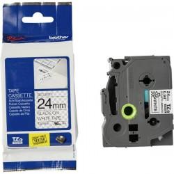Nastro laminato di sicurezza Brother TZe-SE5 Colore Nastro: Bianco Colore carattere: Nero 24 mm 8 m