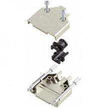MH Connectors MHDTPK-25-K Guscio SUB-D Poli: 25 Plastica metallizzata 180 ° Argento 1 pz.