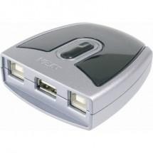 Commutatore USB 2.0 ATEN 2 Porte US221A-AT Argento