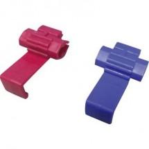 Kit morsetto di collegamento rapido cavi Sezione 0.5 - 0.75 mm² Poli: 2 Blu, Rosso 20 pz.