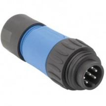 Amphenol C016 10H006 010 10 Connettore circolare Spina dritta Serie: C016 Tot poli: 6 + PE 1 pz.