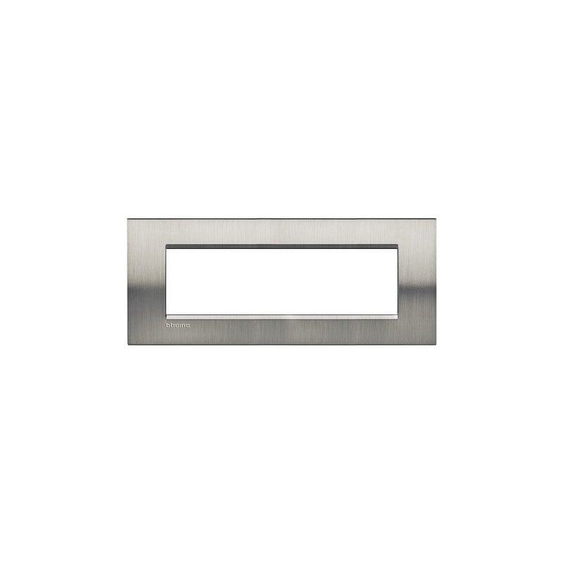 Placca 7M acciaio spazzolato quadra
