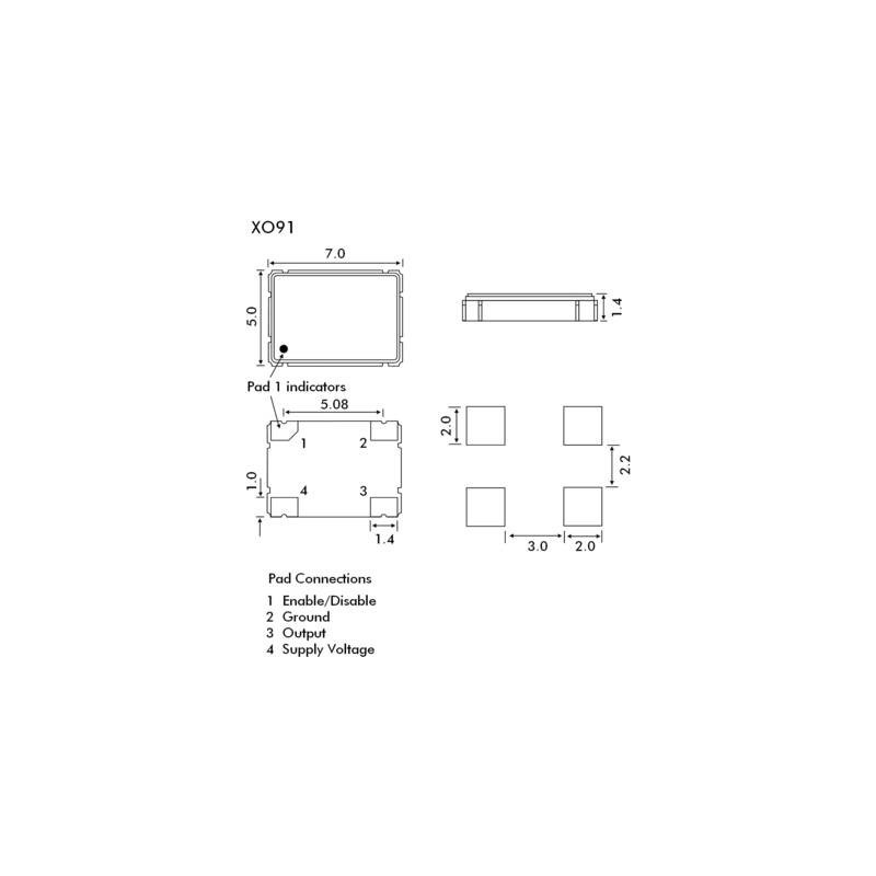 25x 13 Mhz QUARZO SMD 7,5 x 3mm