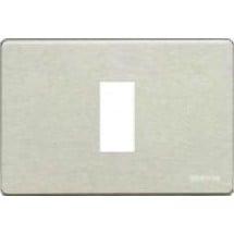 Magic - Placca Alluminio Anodizzato - 1 Modulo
