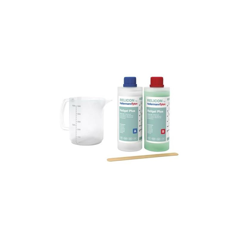 HellermannTyton 435-00756 Religel Plus 500ml-SIG-GN Gel bicomponente Contenuto: 1 KIT
