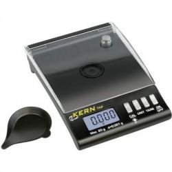 Kern TAB 20-3 Bilancia tascabile Portata max. 20 g Risoluzione 0.001 g a batteria Nero
