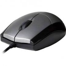 V7 Videoseven MV3000010-5EC Mouse USB Ottico Nero / Argento