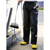 L+D ELDEE 4091 Pioggia pantaloni da lavoro Misura: L Nero