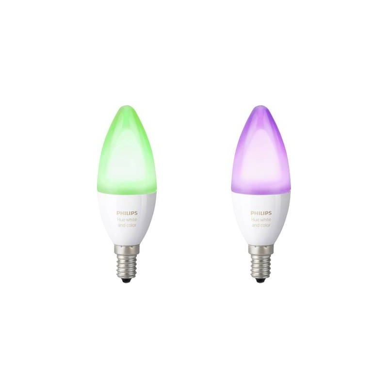 Kit 2 Lampadine Led Philips Lighting Hue White And Color Ambiance E14 6.5 W Rgbw