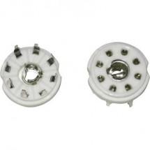 Zoccolo per valvola 1 pz. 156849 Poli: 8 Attacco: Loctal Metodo di montaggio: Circuito stampato Materiale:Ceramica