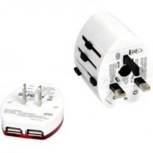 Omega Travel OTRA2 4in1 14014 Caricatore USB Presa di corrente Corrente di uscita max. 2000 mA 3 x USB, Presa di rete