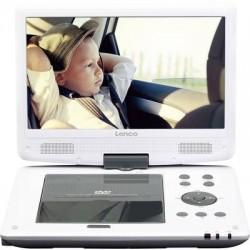 Lenco DVP-1063WH Lettore DVD portatile 25.4 cm 10 pollici Funzionamento a batteria, incl. Cavo di collegamento auto 12