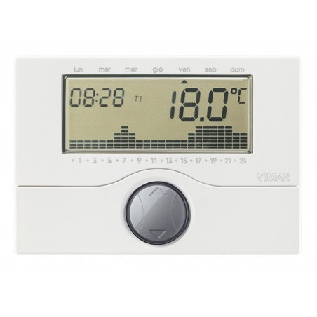 Vimar 01910 -Cronotermostato a Batterie Settimanale/Giornaliero