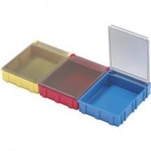 Scatola per componenti SMD Giallo Colore coperchio: Trasparente 1 pz. (L x L x A) 180 x 68 x 15 mm Licefa N52341