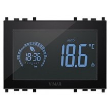 Vimar 02955 - Cronotermostato Touch Screen - 120-230V - Nero