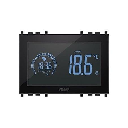 Vimar 02955 - Cronotermostato Touch Screen - 120-230V - Nero