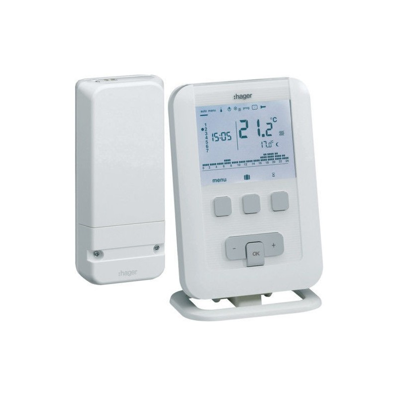Hager Ek560 - Cronotermostato WIFI - Bianco