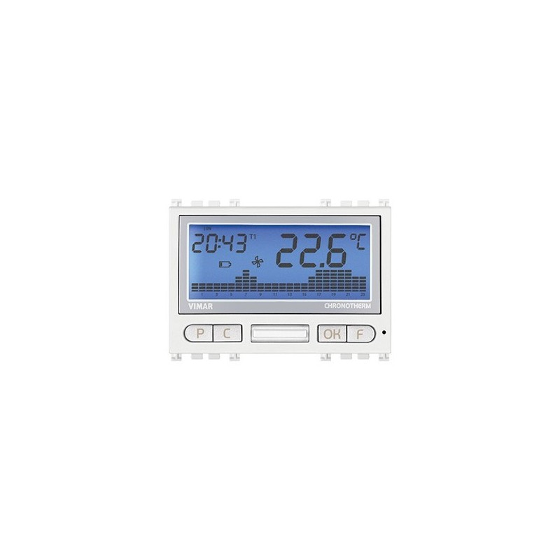 vimar 19446B crono termostato Bianco Silver