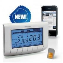 Cronotermostato e termostato gsm con sim prezzi online for Termostato touchscreen gsm vimar 02906