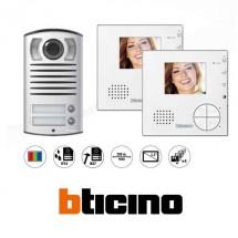 Videocitofono Bticino 365521 Kit Videocitofoni Bifamiliari a colori Classe 100V12B