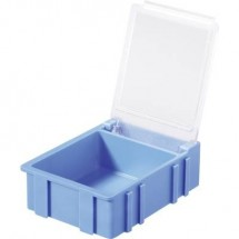 Scatola per componenti SMD Blu Colore coperchio: Trasparente 1 pz. (L x L x A) 41 x 37 x 15 mm Licefa N32381