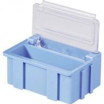 Scatola per componenti SMD Blu Colore coperchio: Trasparente 1 pz. (L x L x A) 37 x 12 x 15 mm Licefa N22381