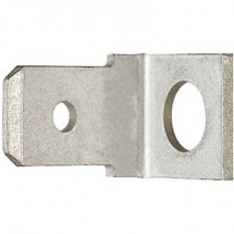 Klauke 2105 Linguetta piatta terminale Larghezza spina: 6.3 mm Spessore spina: 0.8 mm 90 ° Non isolato Metallo 1 pz.
