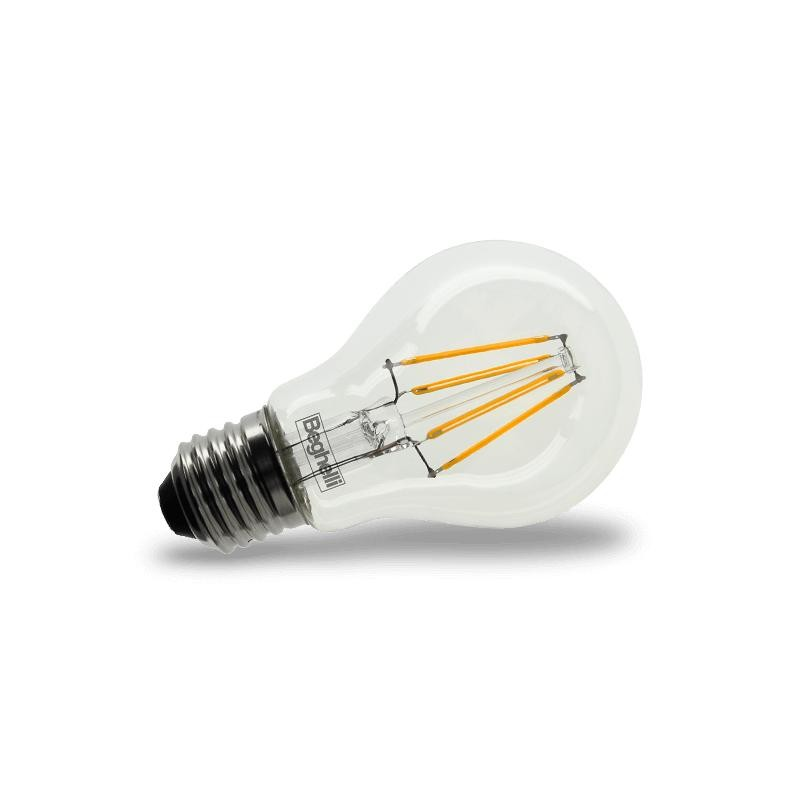 Lampadina led beghelli 56423 e27 4w sfera zafiro luce calda for Lampade a led lunghe