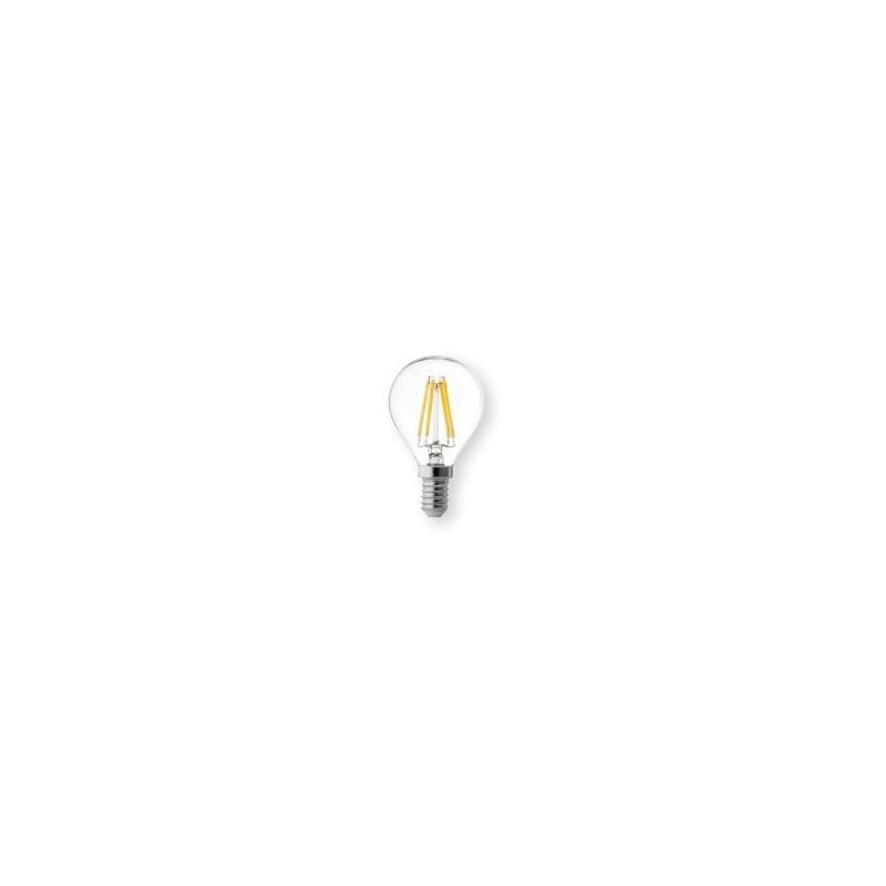 Lampadina led sfera 4w luce calda e14 wiva 12100500 for Lampadine faretti led luce calda