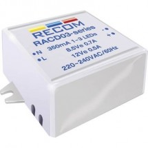 Fonte di alimentazione costante LED 3 W 350 mA 12 V/DC Recom Lighting RACD03-350 Max. Voltaggio operativo: 264 V/AC