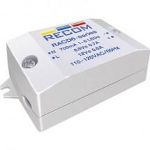 Fonte di alimentazione costante LED 6 W 350 mA 22 V/DC Recom Lighting RACD06-350 Max. Voltaggio operativo: 264 V/AC