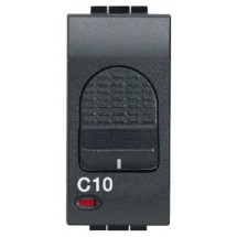 Interruttore Magnetotermico Bticino 6A Antracite Living Light 3kA