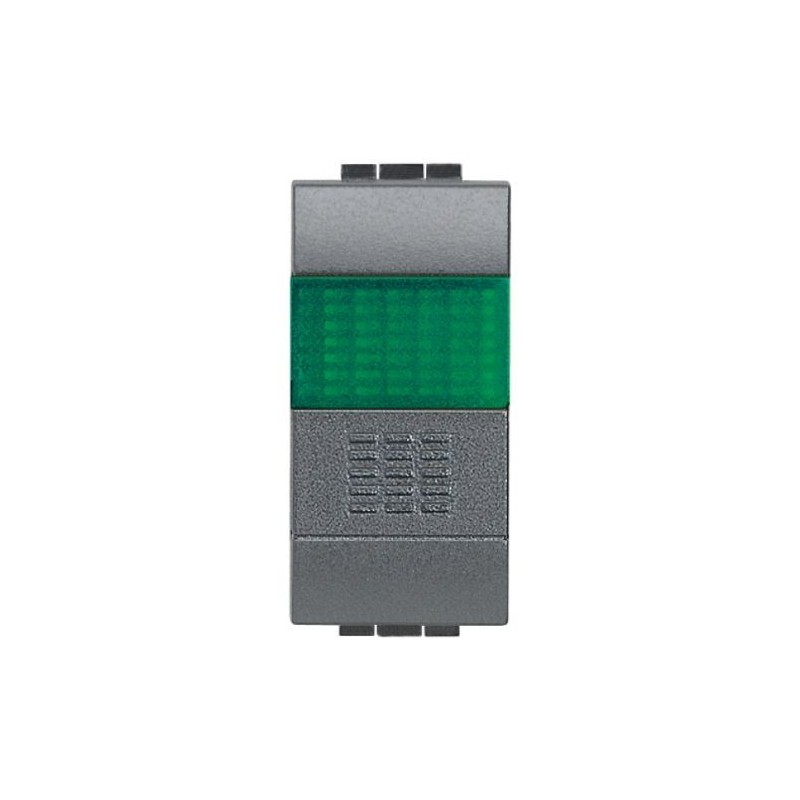 Pulsante unipolare con spia luminosa verde 10a living - Interruttori living light ...