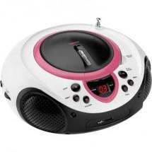 Lenco SCD-38 USB FM Radio CD AUX, CD, FM, USB Rosa