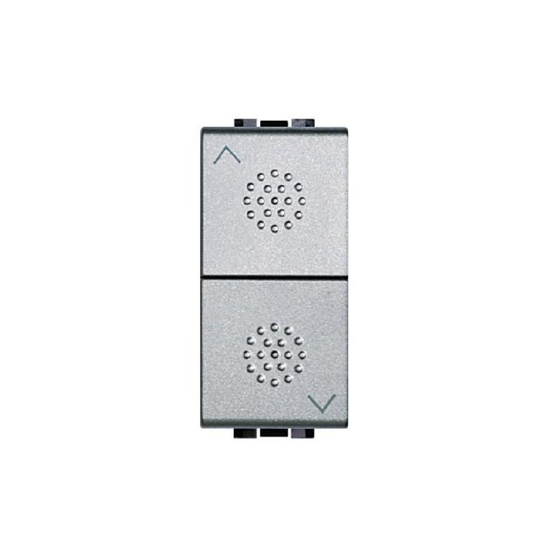 Pulsante doppio interbloccato con frecce tech bticino livinglight nt4037 - Interruttori living light ...