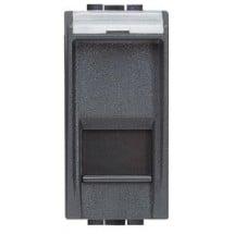 Porta Rj45 Cat 6 UTP - IDC - LivingLight Antracite