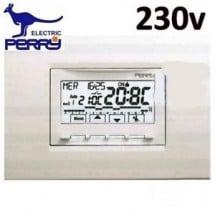 Cronotermostato Perry Next Digitale a Incasso Corrente 230V Universale