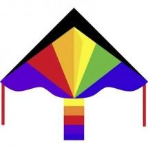 Aquilone statico Monofilo Ecoline Simple Flyer Rainbow Larghezza estensione 1200 mm Intensità forza del vento 2 - 5 bft