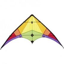 Aquilone acrobatico Ecoline Rookie Rainbow Larghezza estensione 1200 mm Intensità forza del vento 3 - 5 bft